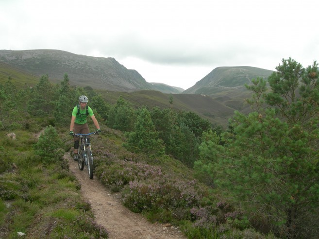 Mountain biking the Lairig Ghru in the Cairngorms