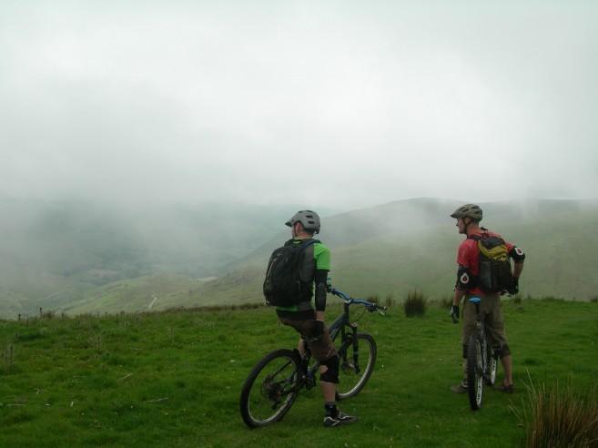 Biking on Cader Idris